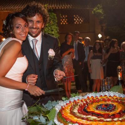 Classic Italian fruits wedding cake